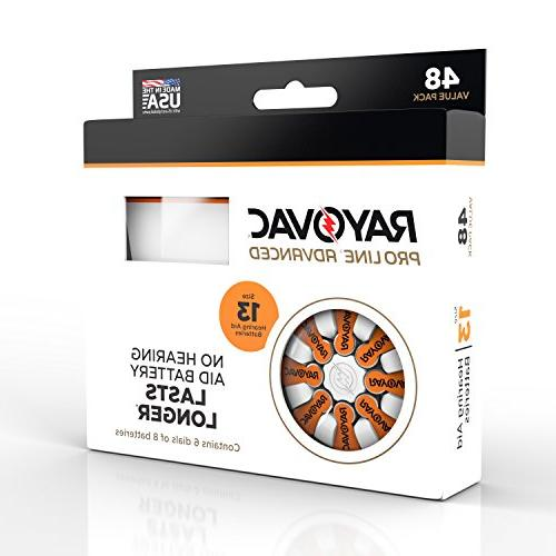 Rayovac Mercury Advanced 13 Aid 48 Batteries