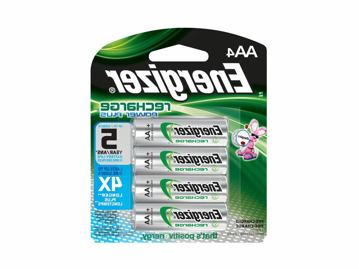new 4 pack aa rechargeable nimh batteries