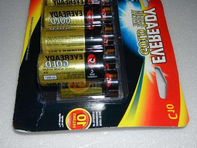 one new gold C Cell Batteries battery c10