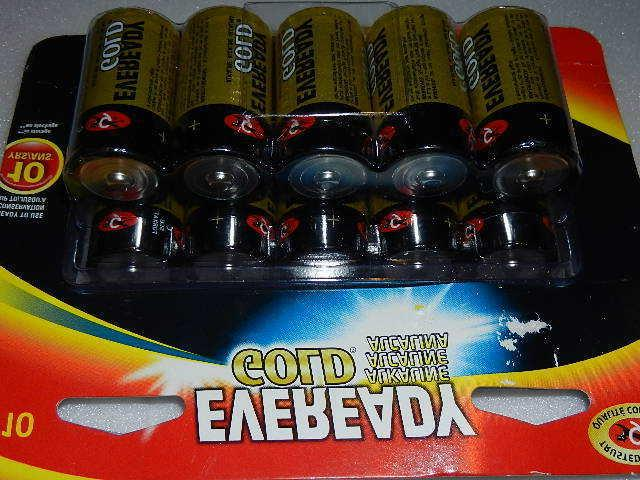 one 10-pack gold C Cell Alkaline Batteries c10