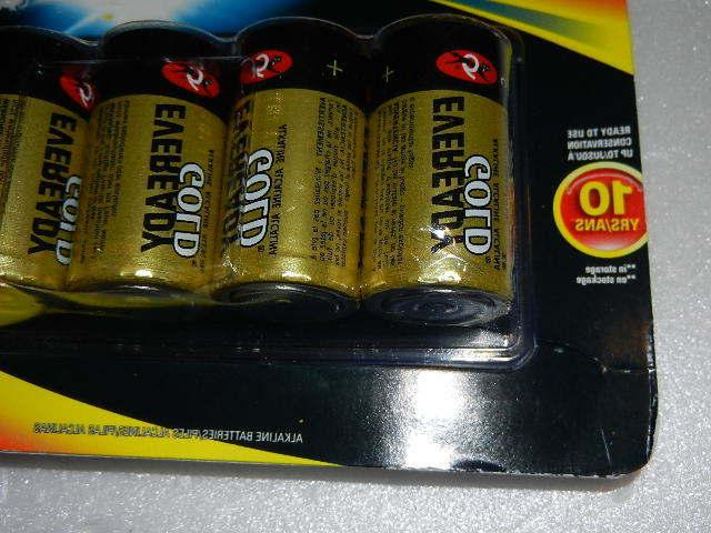 one new Eveready gold C Batteries battery exp. 2027 c10