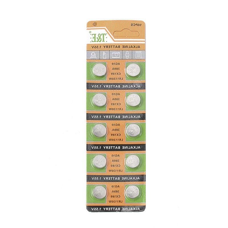 10pcs AG10 LR1130 389A CX189 Button Coin Cell Pack Alkaline