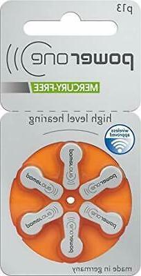 Power One Size 13 Hearing Aid Batteries Zinc Air P13 )