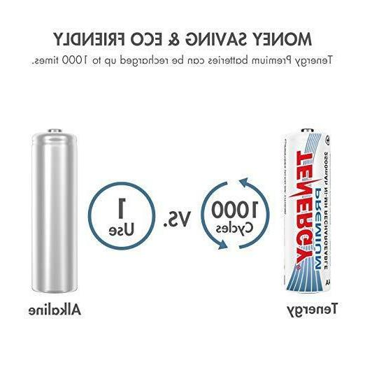Tenergy 2500mAh High Batteries AA