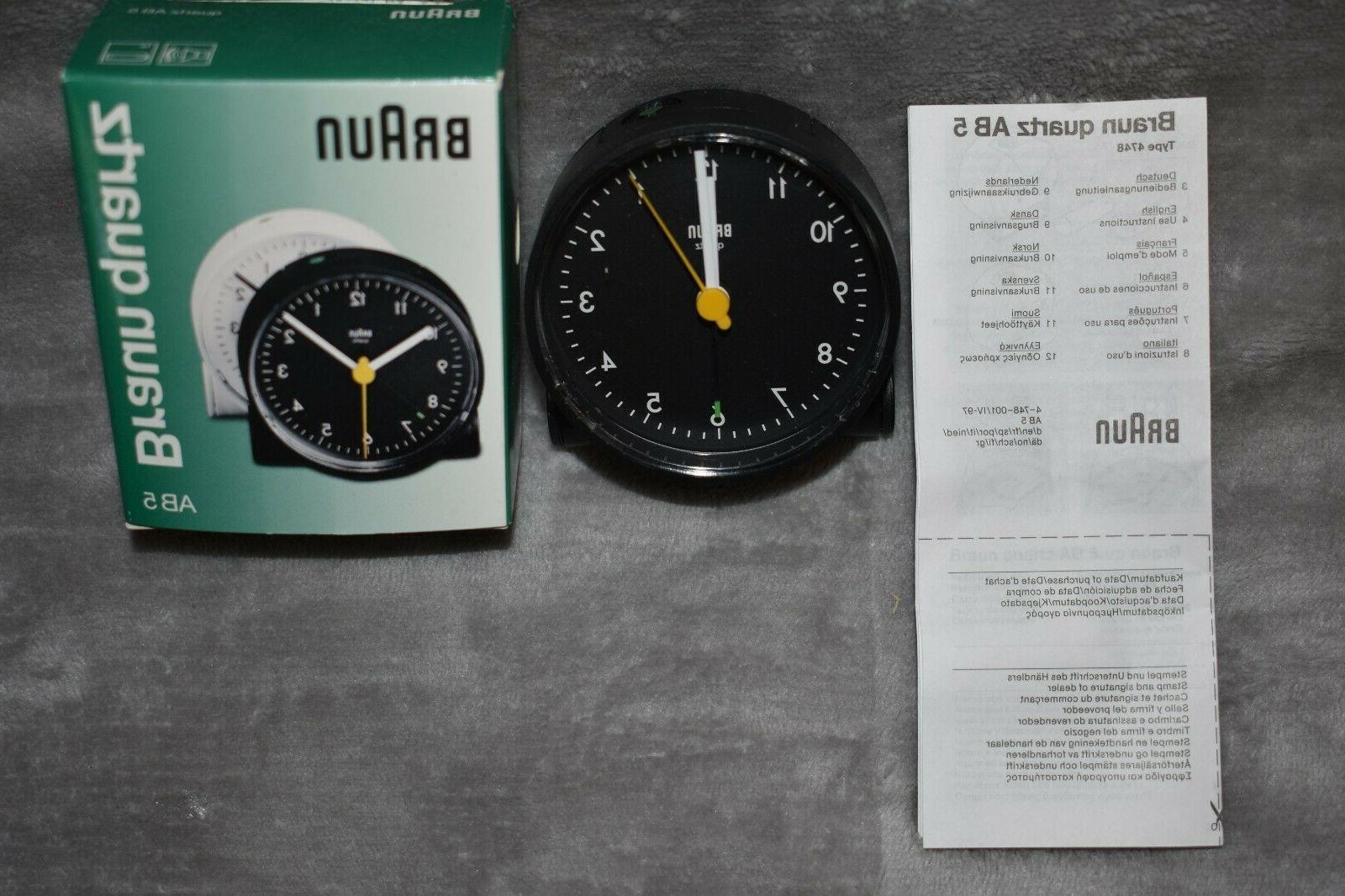 Braun Quartz AB-5 Quartz Controlled Battery Operated Alarm C