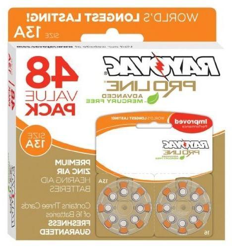 Rayovac Proline Aid Batteries Size