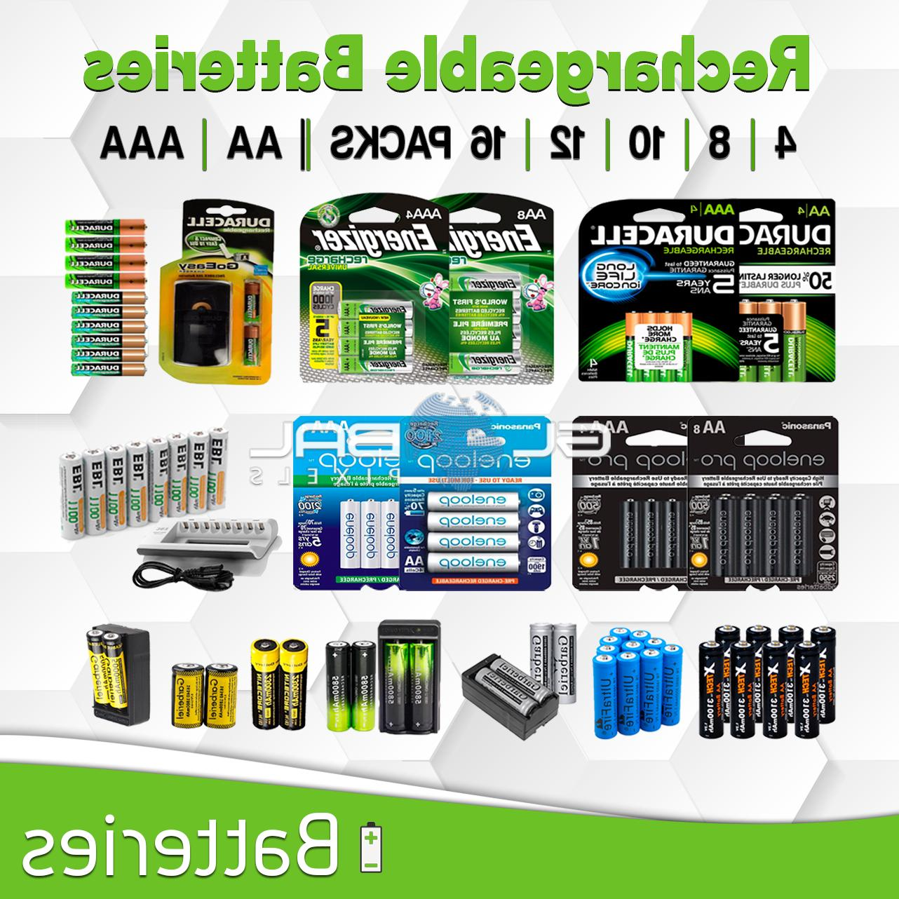 rechargeable battery 4 8 16 aa aaa