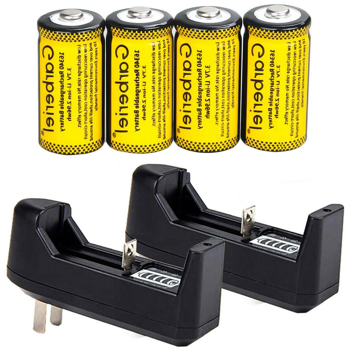 Rechargeable CR123A Li-Ion Security