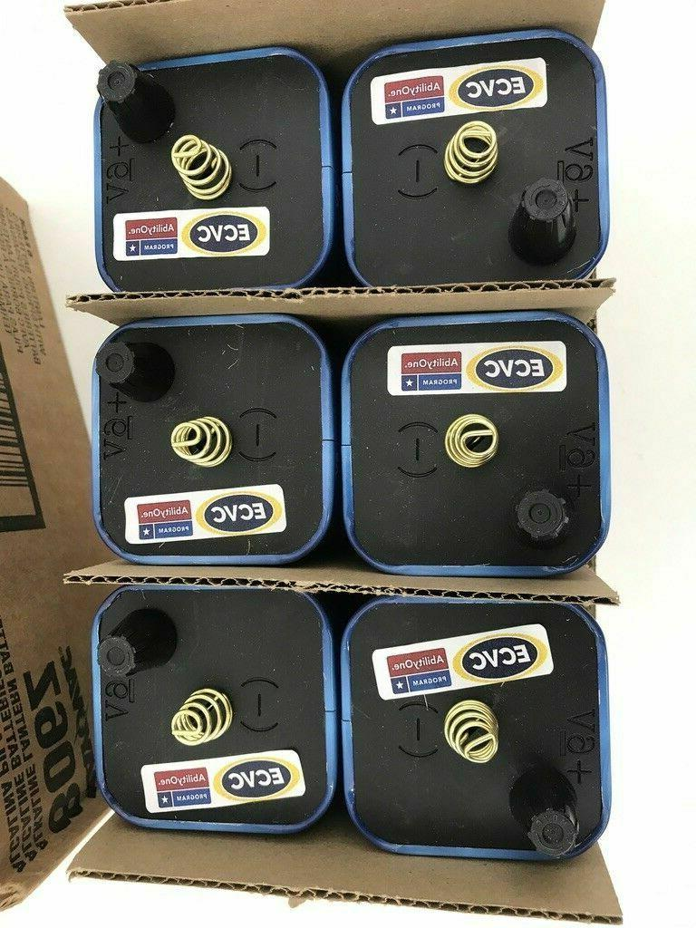 six lantern batteries 6 volt alkaline spring