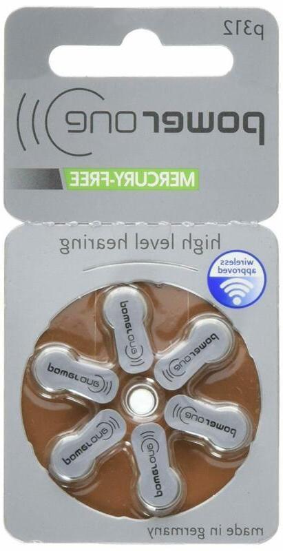 size 312 hearing aid zinc air battery
