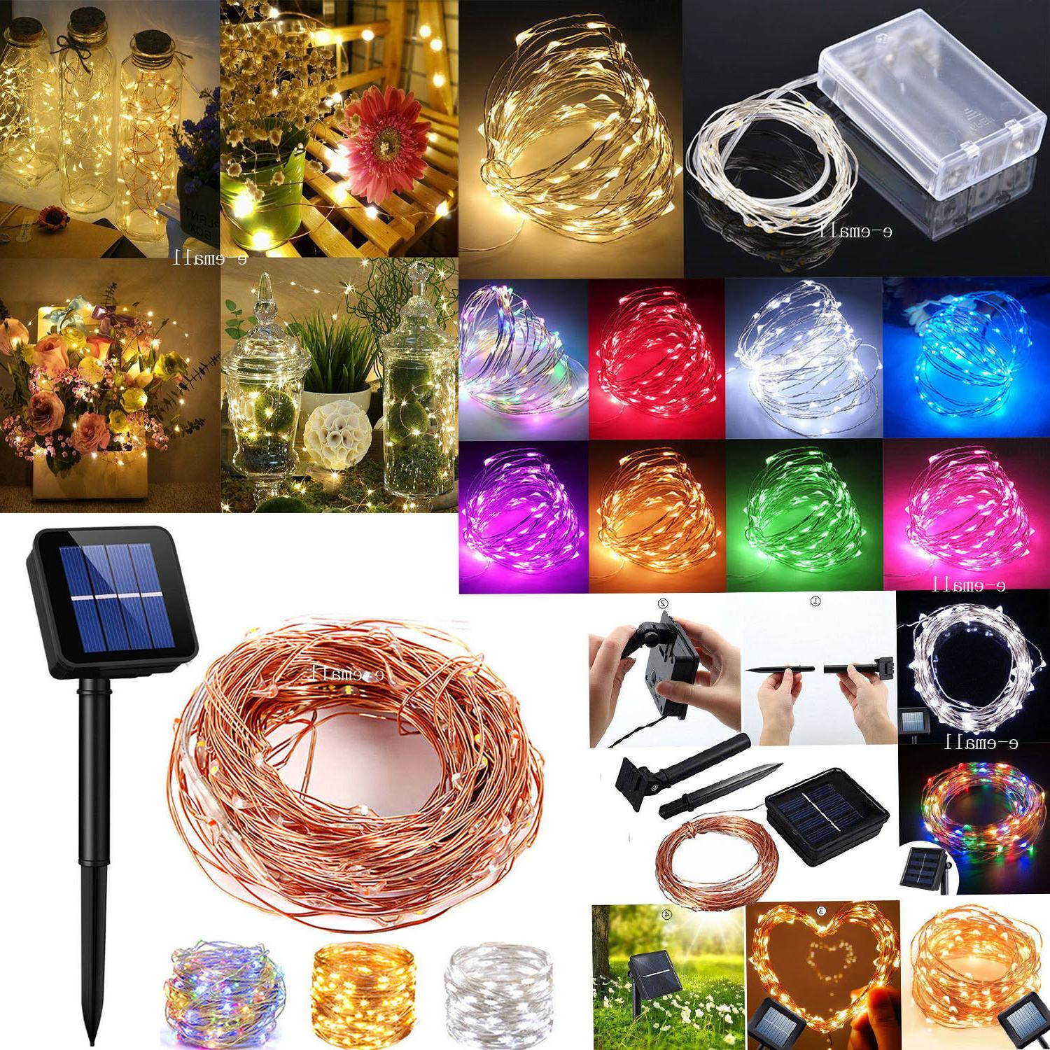 solar led string lights copper wire waterproof