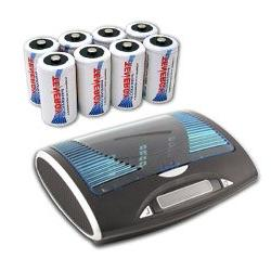 Tenergy T9688 Super Universal LCD Battery Charger with 8 pie