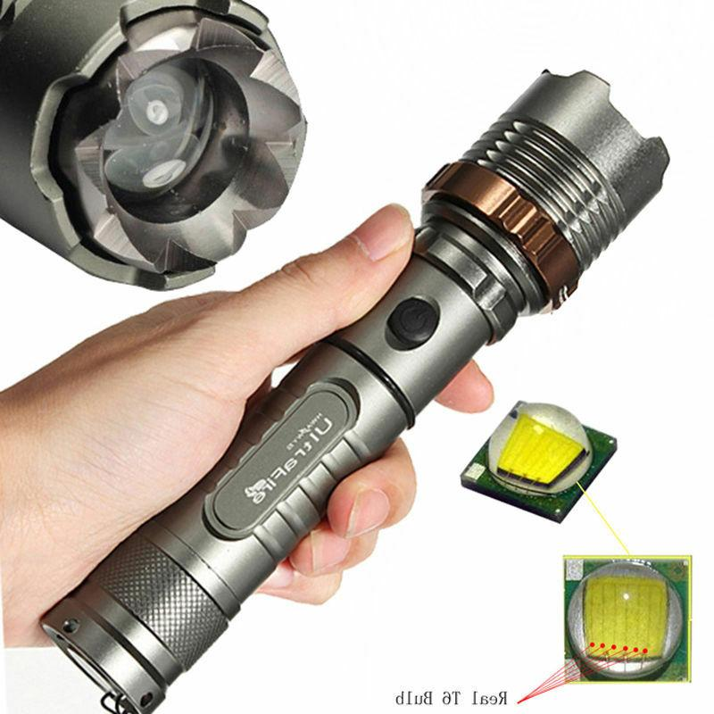 Tactical 12000LM CREE XM-L 18650 Battery&Charger