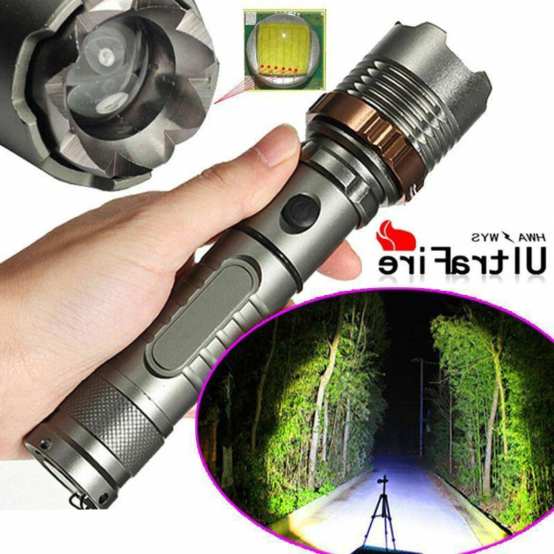 Tactical Police 18650 Flashlight Battery&Charger