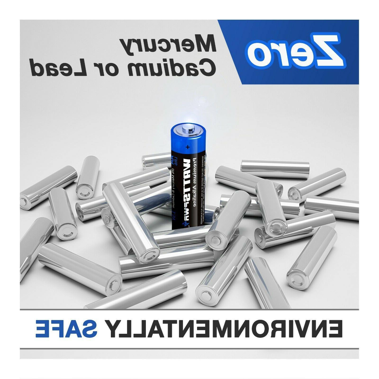 WATTSPOWER AA Batteries, Alkaline Double A Batteries