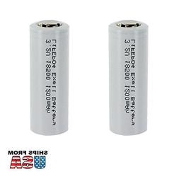 2x Exell LiFePO4 Size 18500 Rechargeable Solar Battery 3.2V