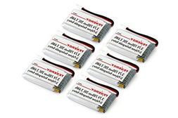 Tenergy 6 pcs of 3.7V 700mAh LiPO Battery