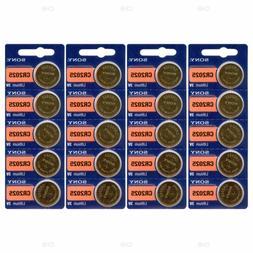 SONY Lithium Coin Battery 3V CR2025 - 20 Pack Expires 01/202