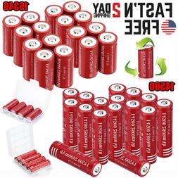 Lot 2800mAh Batteries CR123A 16340 14500 Rechargeable Lithiu