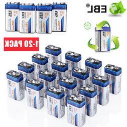 Lot EBL 280mAh 9V Volt 6F22 Ni-MH Rechargeable Batteries Bat
