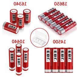Lot EBL 3.7V 18650 16340 14500 10440 26650 Rechargeable Batt