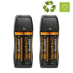 4Pcs 5000mAh 3.7V 18650 Li-ion Rechargeable Battery For LED