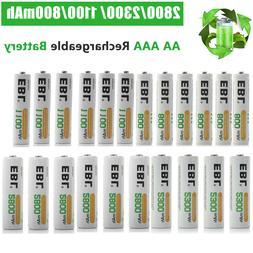 EBL Lot AA AAA Rechargeable Batteries 2800mAh 2300mAh 1100mA