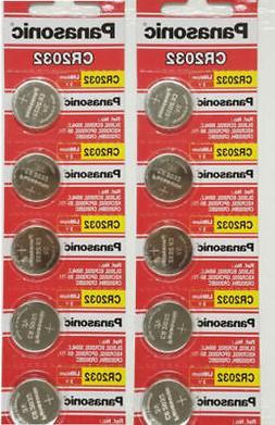 Lot of 15 Batteries-Panasonic CR2032 ECR2032 3V Lithium Coin