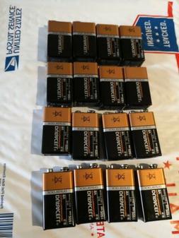 Lot of 16 NEW 9V, 9 VOLT Alkaline Batteries EXP in 2021