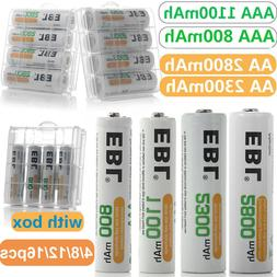 EBL Lot AA AAA Rechargeable Batteries Ni-Mh 2800mAh 2300mAh