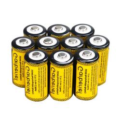 10PCS CR123A 1800mAh 3.7V 16340 Rechargeable Lithium Batteri