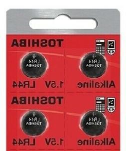 LR44 / AG13 Toshiba 1.5V Alkaline Pack Of 4 Button Cell Batt