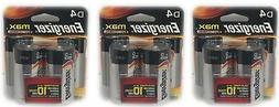 Energizer MAX  D Cell Alkaline Batteries 12/31/2028 Expirati