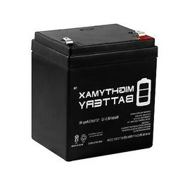 Mighty Max 12V 5AH SLA Battery Replacement for AJC WKA12-5F