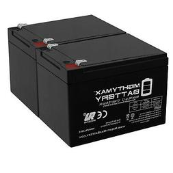 Mighty Max 2 Pack - 12V 12AH Replacement Battery for Pride M