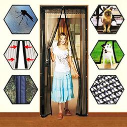 Mosquito Door Net Mesh Screen Bug Fly Pet Patio Hands Free M