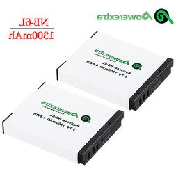 2pack NB-6LH NB-6L Battery For Canon Powershot D10 S95 SD130