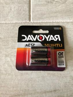 New RAYOVAC 123A 123 CR123A LITHIUM 3V PHOTO BATTERY - 2 PAC