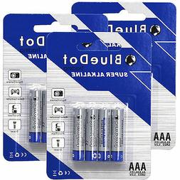 NEW FREE SHIP  AAA TRIPLE A HEAVY DUTY BATTERIES BlueDot Alk