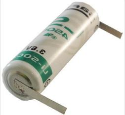 NEW Saft LS 14500 3.6 V AA-size Lithium Battery with Tabs -