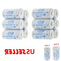 GTL Ni-MH C D Size C D Cell Rechargeable Batteries High Capa