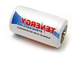 Tenergy Premium NiMH D Size 10000mAh High Capacity High Rate
