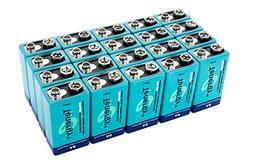 20 pieces of Tenergy 9V 250mAh NiMH high capacity rechargeab