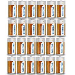 Pack 24 Philips C Battery R14 1.5V Batteries Exp 2022 Clock