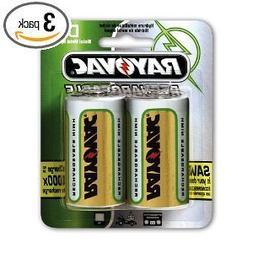 Ray-O-Vac PL7132GEN Platinum Rechargeable NiMH Batteries, D,