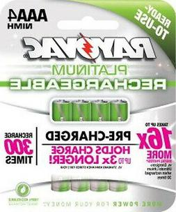 Rayovac Platinum rechargeable AAA Size Batteries 4 pk