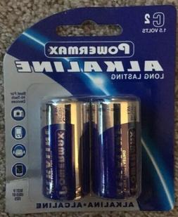 Powermax Alkaline C Battery's 1.5volts  24 C Size, 12x 2 P