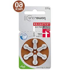 PowerOne Hearing Aid Batteries PR41, p312, SIZE 312