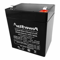 PowerStrar CA-1240  12V 4AH  SLA Battery for Casil Ca1240 Al