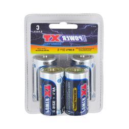 PowerXT 1 X 4-Pack C Super Alkaline 1.5V Batteries Eco-Frien